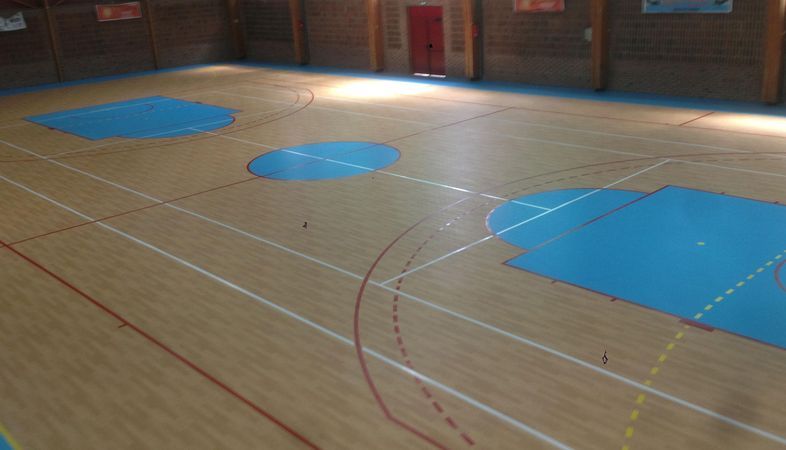 Sol Pour Salle De Sport titeca : nos réalisations en revêtement de sol parquet et résine